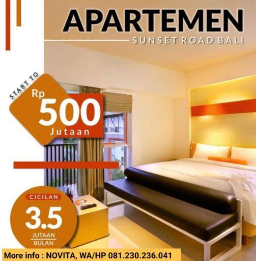 Jual apartemen murah strategis Sunset Road Bali
