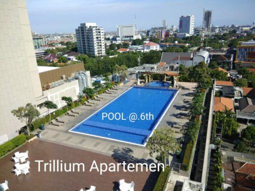 Apartemen Trillium view pool pusat kota surabaya