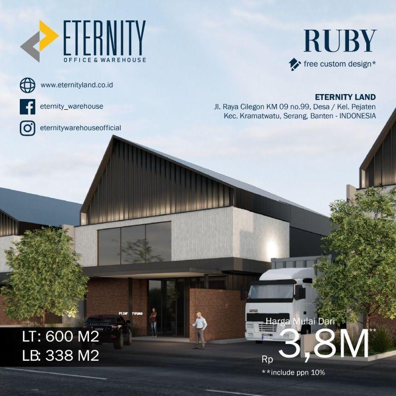 Eternity Warehouse Office Modern di Jl Raya Serang Cilegon